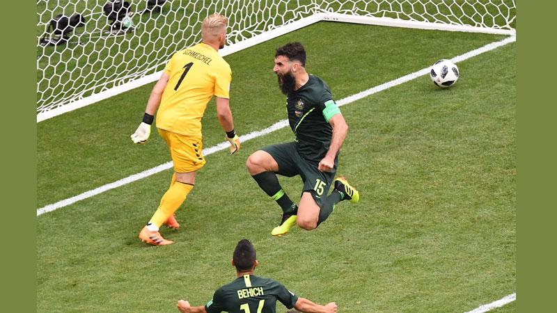 VAR helps Australia draw with Denmark
