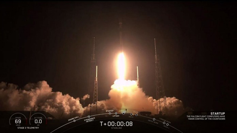 SpaceX launches first satellites of its internet network