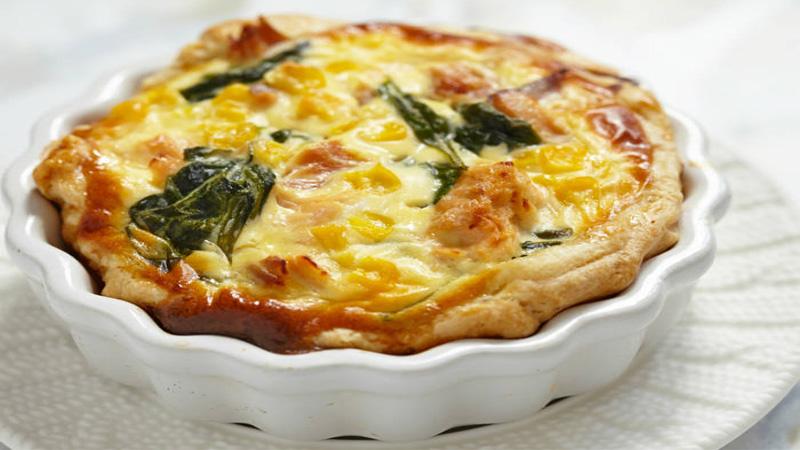 Spinach and Corn Quiche Recipe