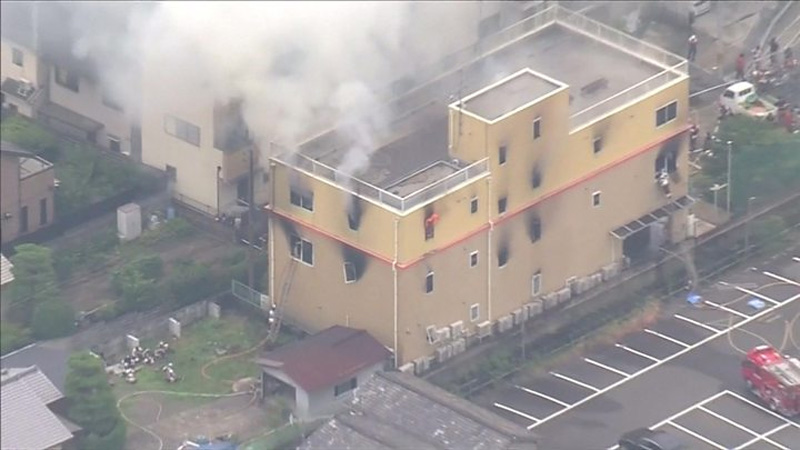 13 killed in Japan animation studio fire