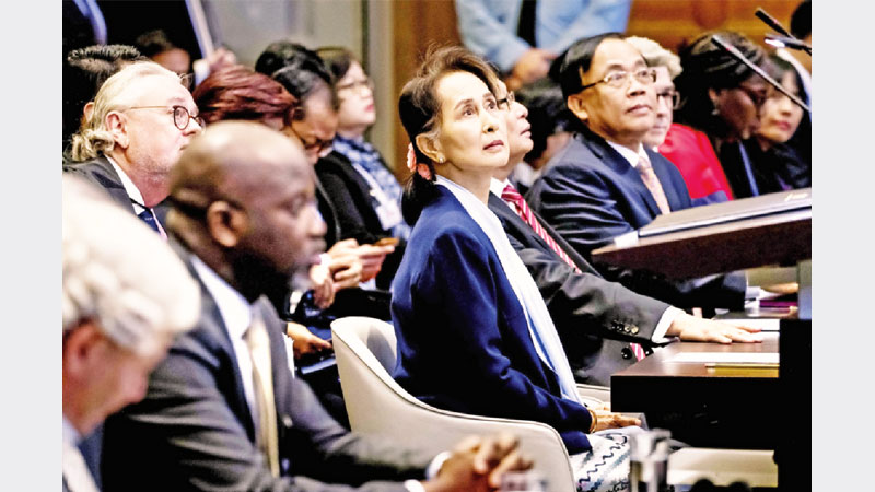 Suu Kyi lies at ICJ