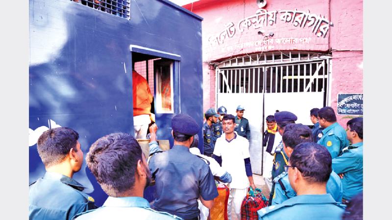 Sylhet jail inmates transferred to new location