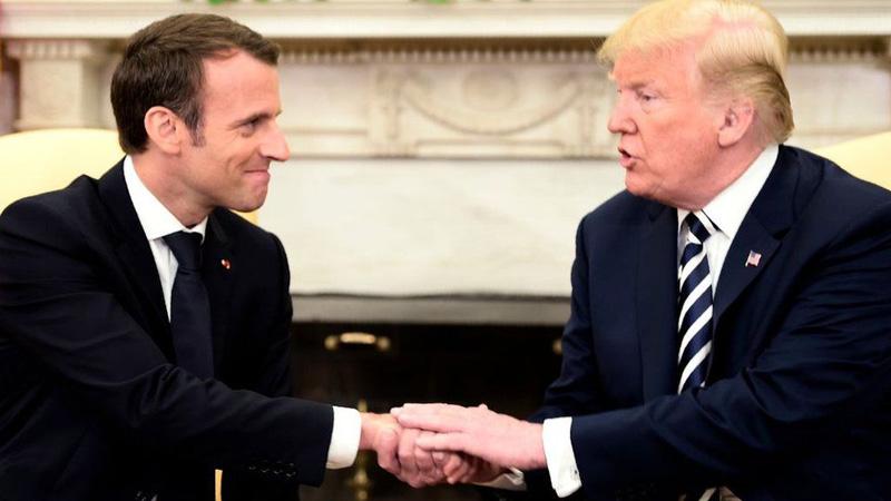 Trump and Macron hint at new Iran nuclear deal