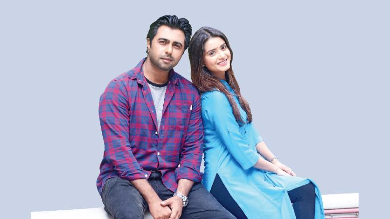 Apurba and Tanjin Tisha in 'Tumi Amar Hobe'