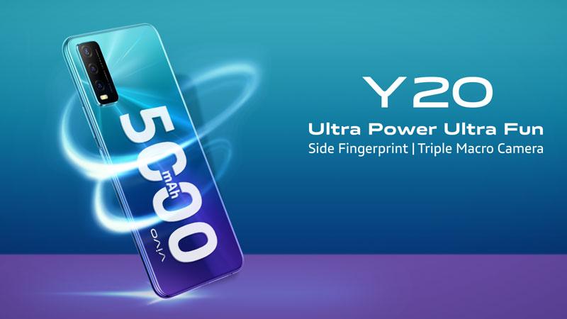 Vivo Y20 smartphone now in Bangladesh