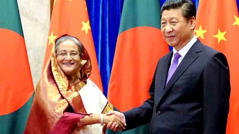 Xi appreciates Hasina for offering help