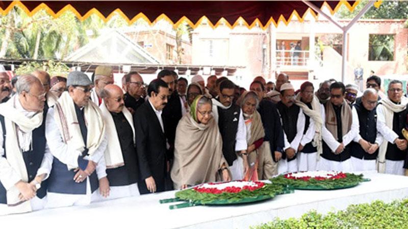 New AL committee pays tributes to Bangabandhu