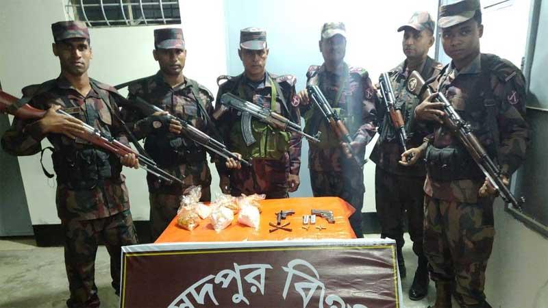Firearms, gunpowder recovered in C'nawabganj