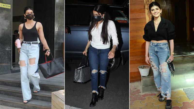 India's Janhvi, Kriti, Sanjana make distressed jeans 'The new dress code'
