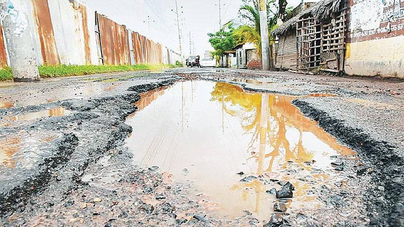 Sad state of city roads