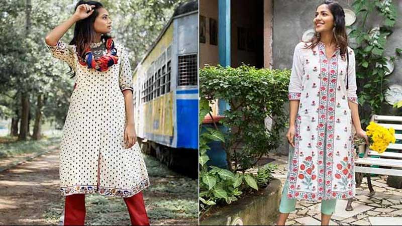 Stylish printed kurtas for new look