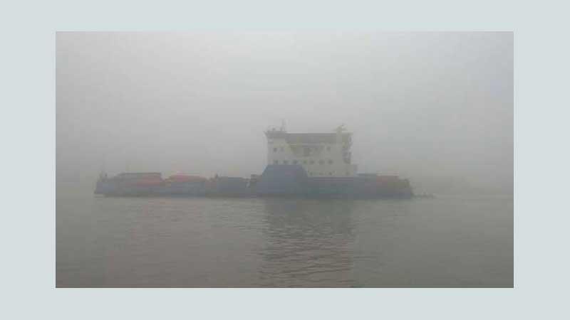 Heavy fog halts Paturia-Daulatdia ferry service