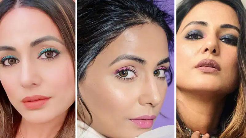 Hina Khan's eye make-up amid Covid-19