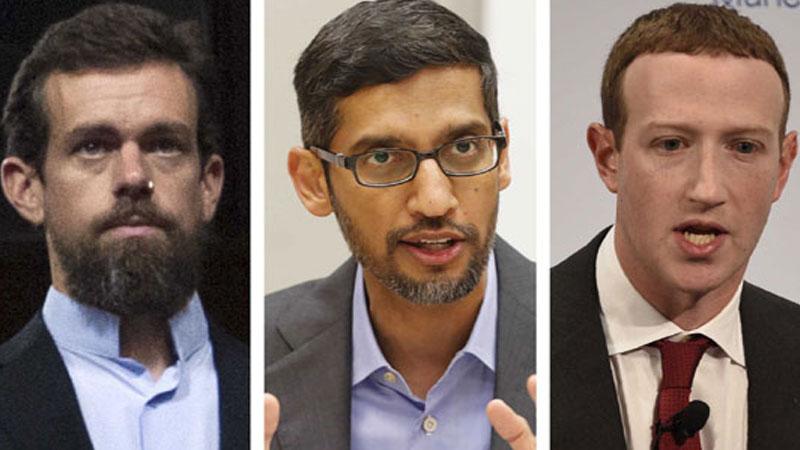 Drama in Congress as tech CEOs face fury over disinformation