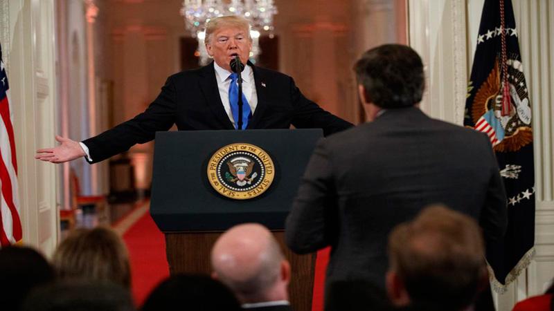 White House suspends CNN journalist Acosta after Trump confrontation