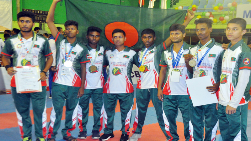 S Asian Karate Championship: Bangladesh men's junior team win gold
