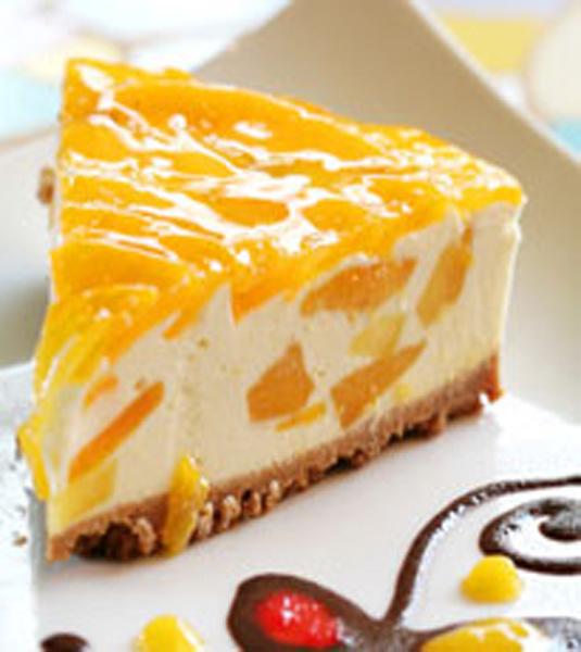 Chilled mango cheesecake for Postres caseros sencillos