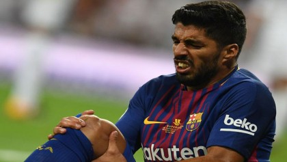 Luis Suárez out for four weeks