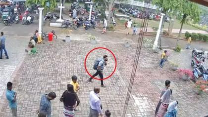 CCTV shows bomber calmly entering church