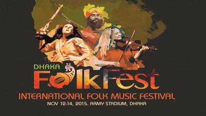 3-day �Dhaka Folk Fest 2015� kicks off Nov 12