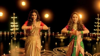 Lok Sabha MPs Nusrat and Mimi  dance for Durga Puja theme song