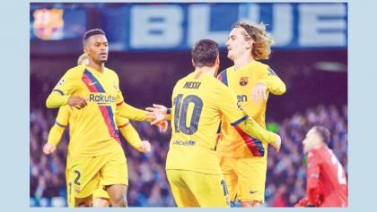 Griezmann earns Barca first-leg draw