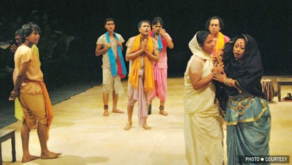 Udichi Shilpigoshthi stages  'Half Akhrai' at Shilpakala today