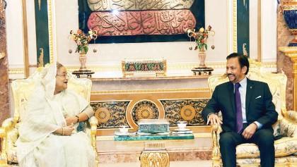 Hasina woos Brunei entrepreneurs