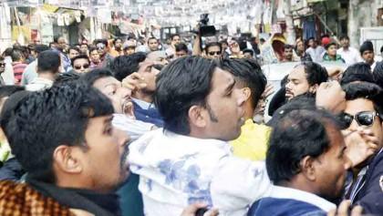 Ishraque rally comes under attack