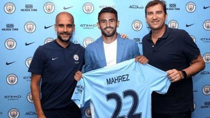 Man City sign Riyad Mahrez in club-record deal