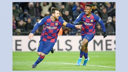 Messi delivers Setien 1st win