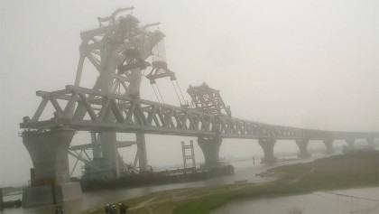 1,200 meters of Padma Bridge now visible