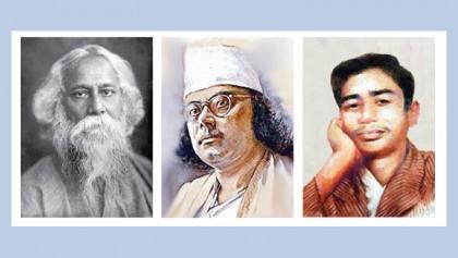 'Rabindra-Nazrul-Sukanta Jayanti' at National Museum today