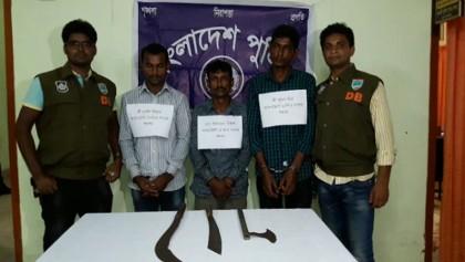3 'robbers' held in Chuadanga