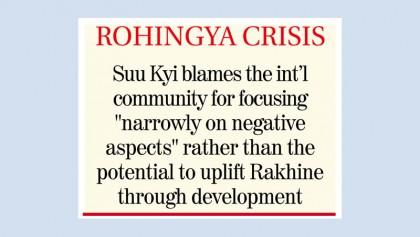 Suu Kyi dodging violence courts investment for Rakhine
