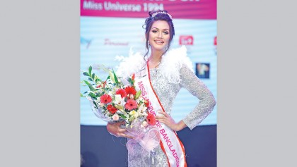 Shela crowned Miss Universe Bangladesh