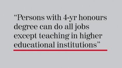 Honours degree not enough: UGC