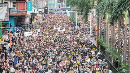 Thousands march again in HK anti-govt rally