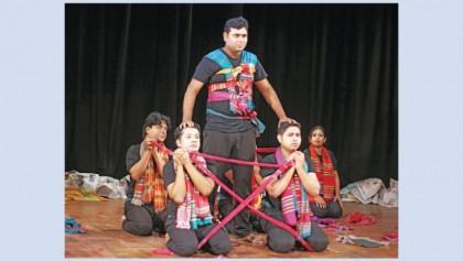 100th show of anti-war play 'Tringsha Shatabdee' at BSA today