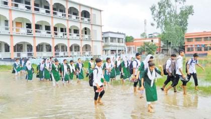 Waterlogging plagues school activities