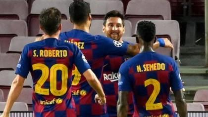 Messi and Suarez help Barca into quarter-finals