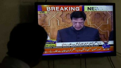 Imran Khan sworn in as prime minister of Pakistan