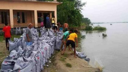 Erosion threatens Sherpur primary school