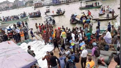 Buriganga launch capsize: 32 bodies recovered so far