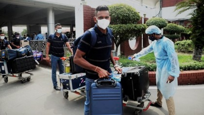Sri Lanka team arrives Dhaka to play 3-match ODI Series against Tigers