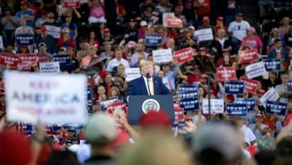 Trump violently attacks media figures in supporter's event meme: NYT
