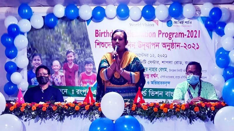 Birthday of 3,700 disadvantaged children celebrated in Rangpur