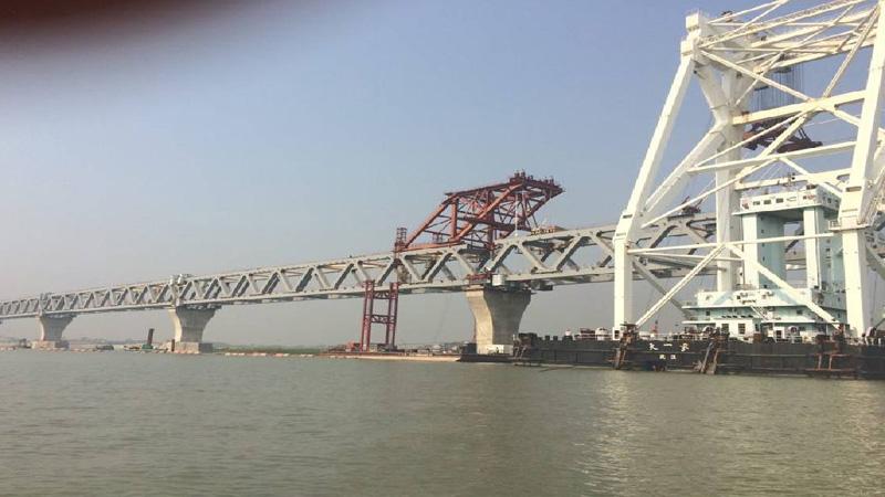Padma Bridge's 18th span installed