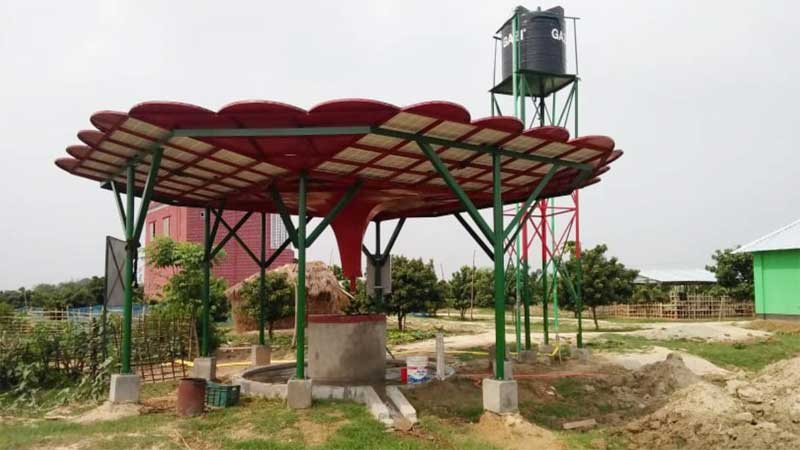 Solar-powered dug wells bring hope in drought-prone Naogaon