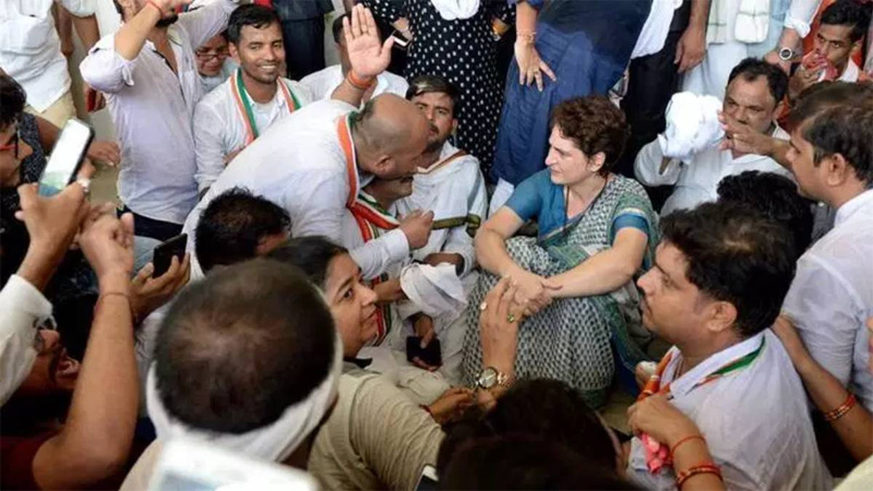Won't return without meeting the kin of Sonbhadra victims: Priyanka Gandhi
